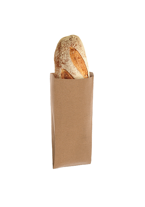 Paper folding bag for bread - without print