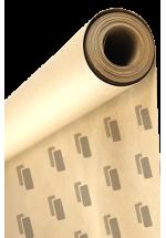 Papier pakowy biały w rolce z nadrukiem