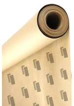 Roll wrapping white paper with print