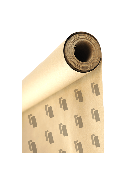 Roll packing paper with print