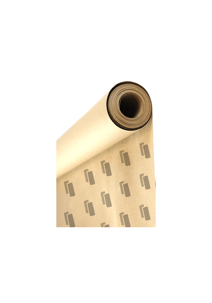 Papier pakowy w rolce z nadrukiem