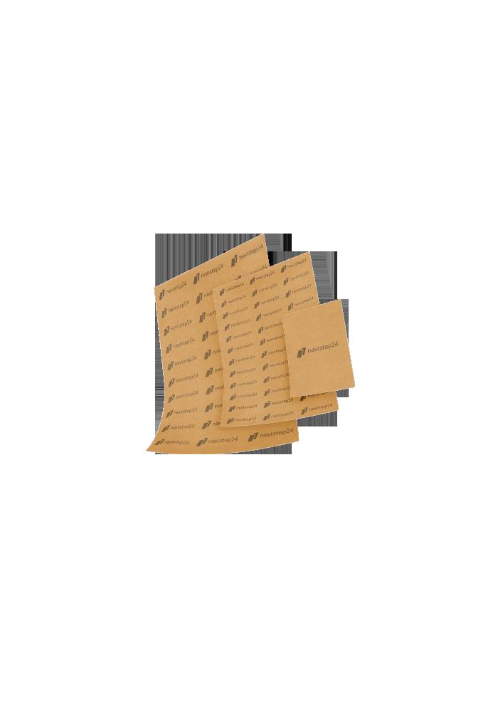 Papier pakowy cięty z nadrukiem