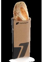 Paper folding bag for bread