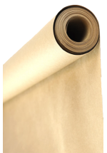 Roll wrapping white paper without print