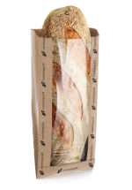 Paper folding bag for bread with window