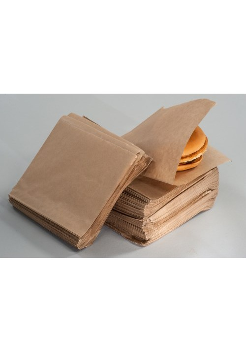 Flat cut kebab/burger bag - without print