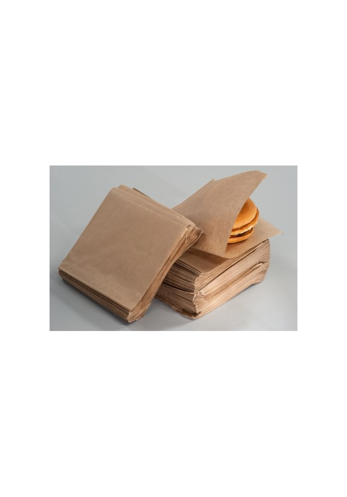 Flat cut keba/burger bag - without print